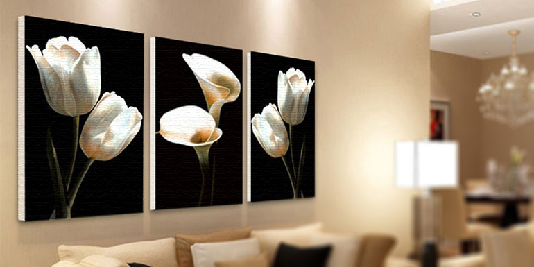 Canvas art prints for interior decoration